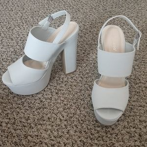Light Blue Platform Heels